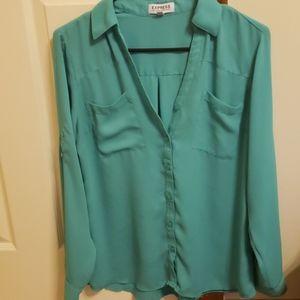 Express Portfolio Shirt teal/seafoam